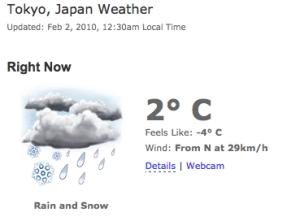 Weather Forecast - Snow